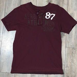 Aeropostale Short-Sleeve Button Shirt Large
